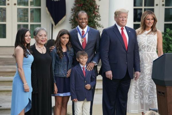 """Trump à Woods : """"Vous êtes une vraie légende"""""""