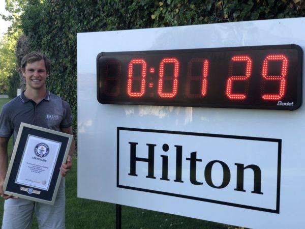 VIDÉO : 1mn 29s pour jouer un par 5 ; record du monde pour Thomas Detry !
