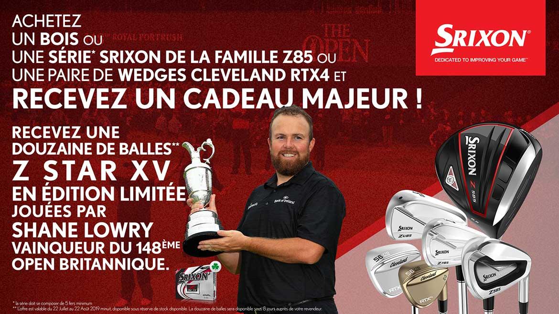 Victoire Shane Lowry The Open 2019 – SRIXON