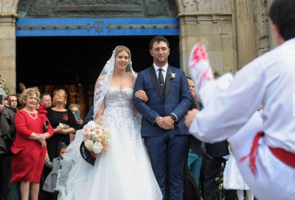 Jon Rahm s'est marié à Bilbao avec son amie américaine Kelley