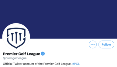 twitter premier golf league