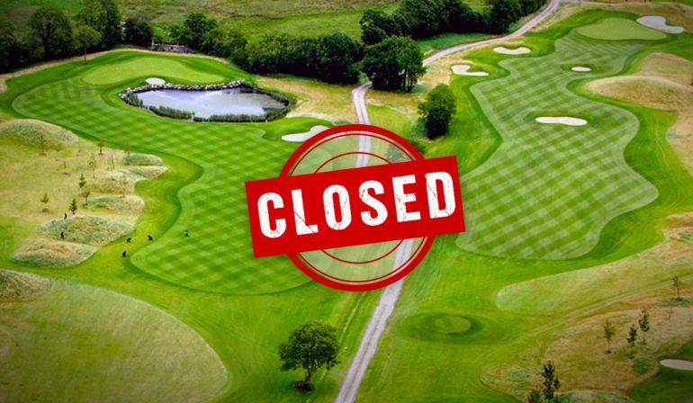 golf course closed parcours fermé europe