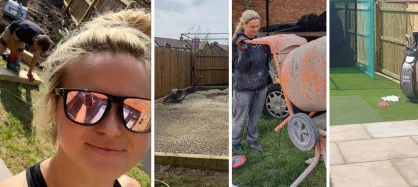 Carly Booth se transforme en maçon pour se construire un studio d'entrainement