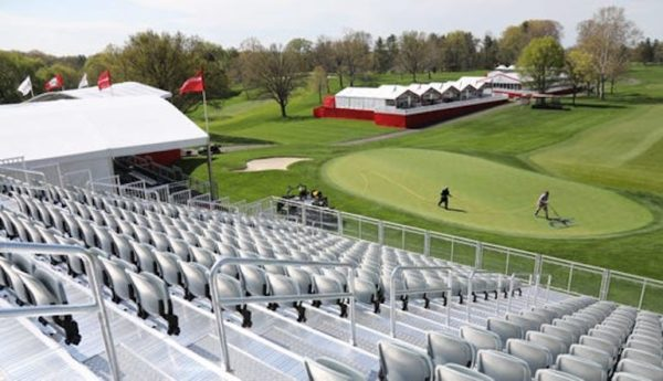 tribune pga tour grand stand no fans