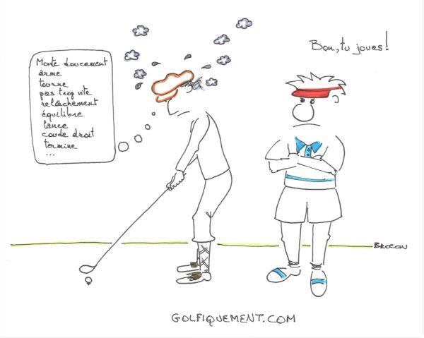 Comment jouer libéré au golf?