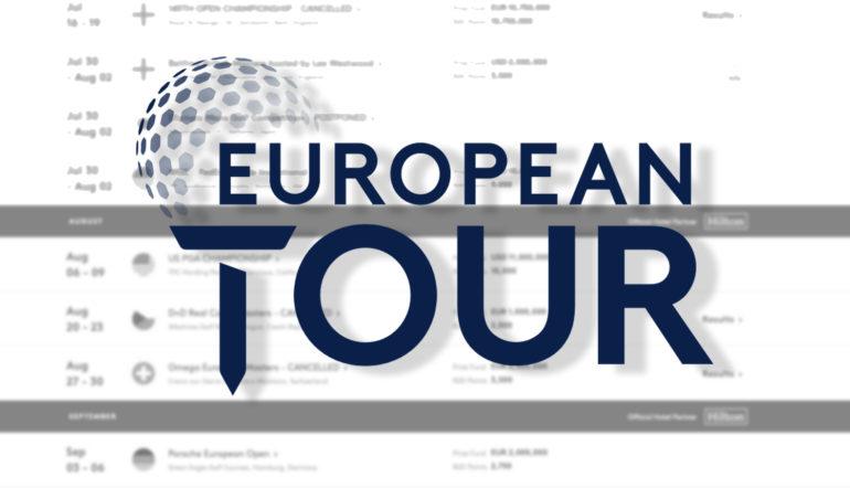 european tour logo schedule calendrier