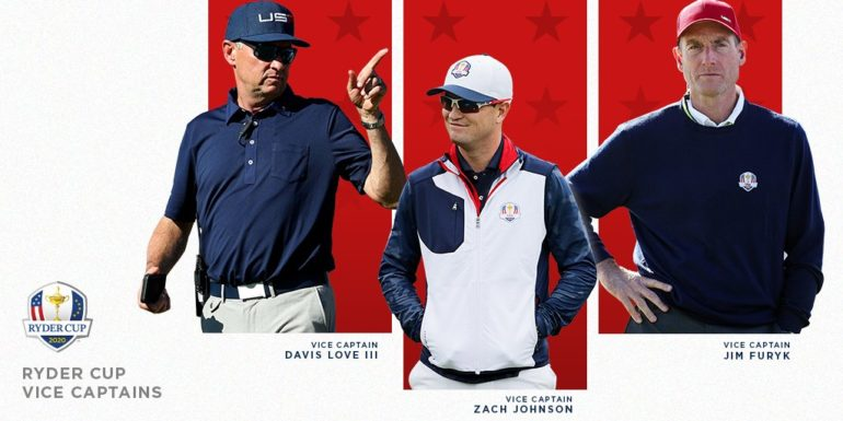 Ryder Cup 2020 steve stricker usa pga of america Vice Captain capitaine Davis Love Zach Johnson Jim Furyk