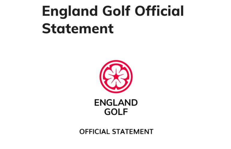 golf union england official statment