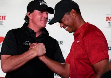 tiger vs phil charity champions manning brady
