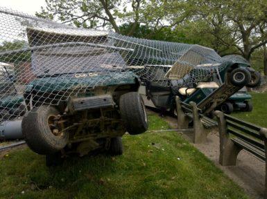 vandalisme voiturette buggy