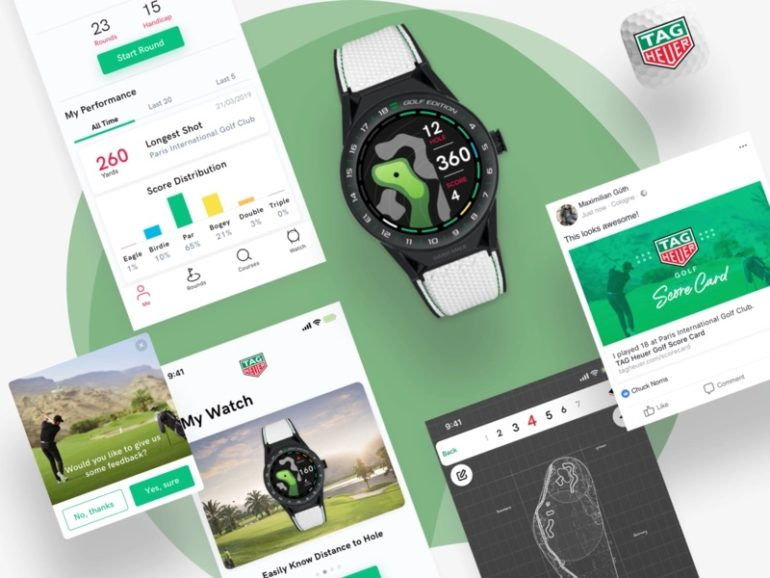 tag heuer app golf