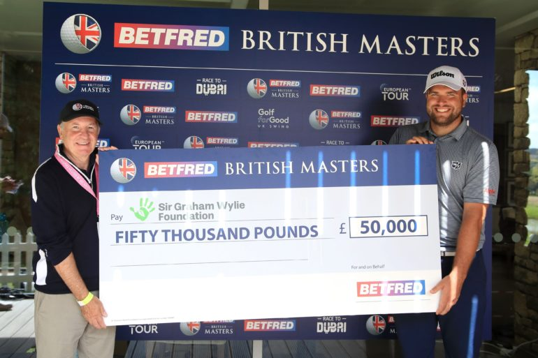 he £50,000 prize which @Betfred have donated will go to the @SirGWFoundation Clapping hands sign