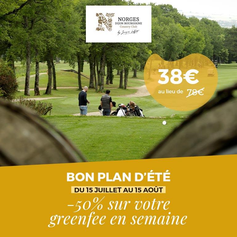 Golf Dijon Bourgogne Juillet 2020 ticket carré