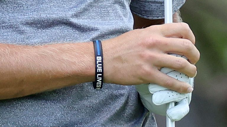 richy werenski wrist band bracelet police