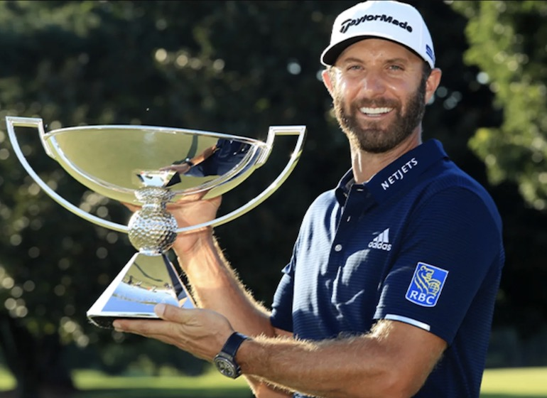 dustin johnson fedexcup trophée coupe victoire