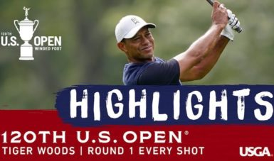 tiger woods us open video