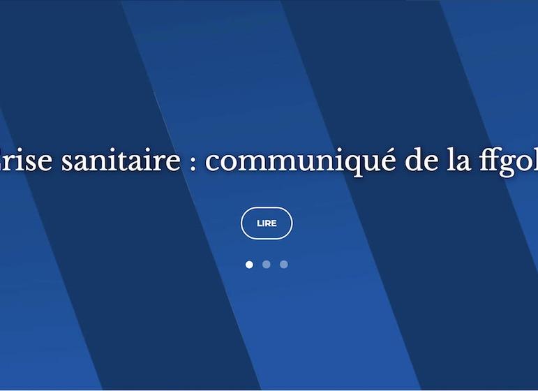ffgolf communique crise sanitaire