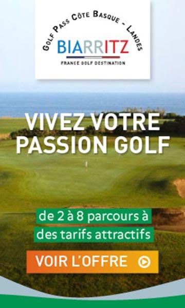 Golf Pass Pays Basque 2020 bannière verticale