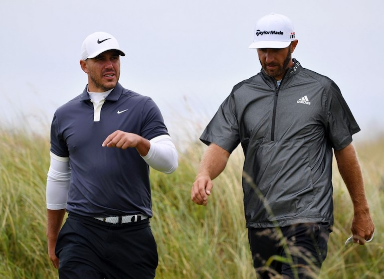 Brooks Koepka et Dustin Johnson (Photo by Stuart Franklin/Getty Images)