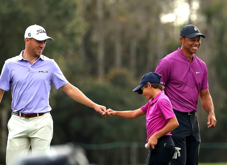 Tiger Woods et Charlie Woods Mike Ehrmann/Getty Images/AFP