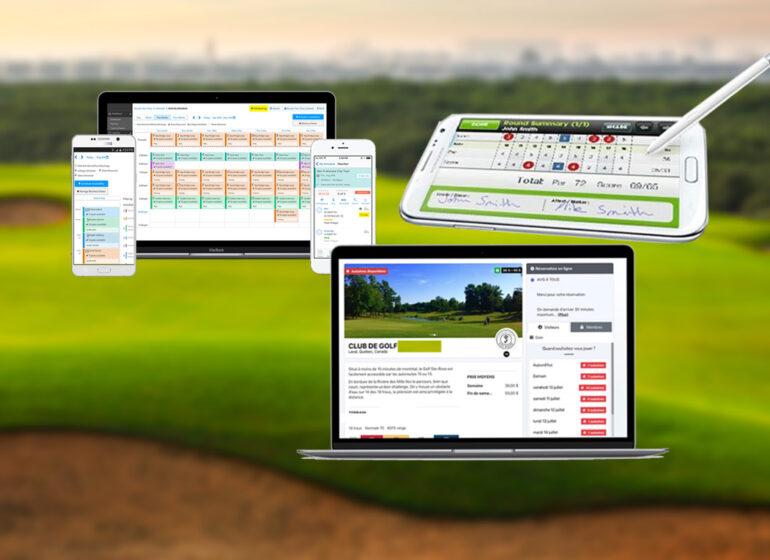 digital golf confinement