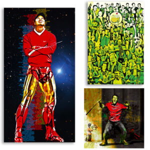 super heros les-tableaux-de-christophe-lassaut