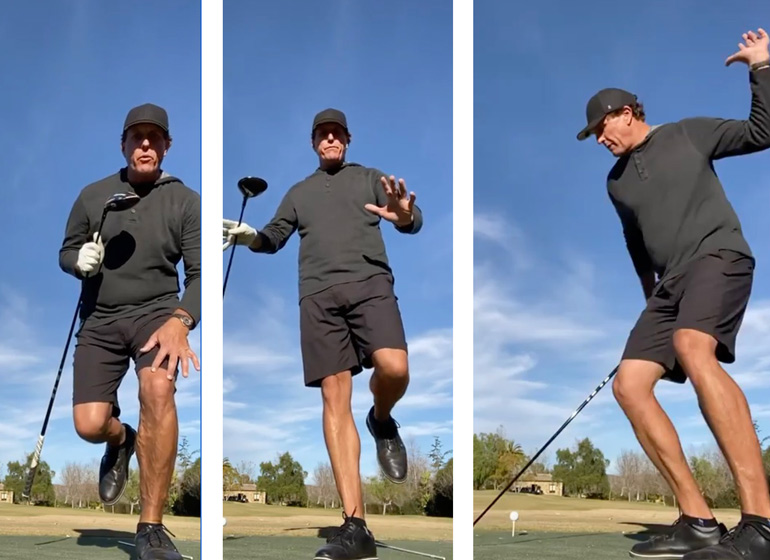 mickelson hitting bombs