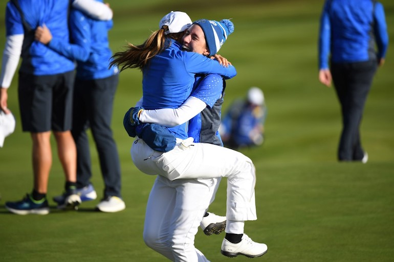 L'Europe remporte la Solheim Cup en Ecosse en 2019 Photo ANDY BUCHANAN / AFP)