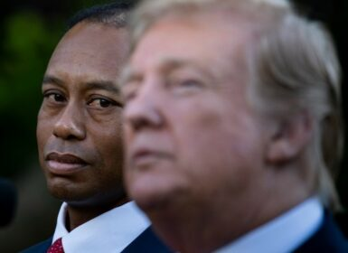 Tiger Woods lPresident Donald Trump Photo by Brendan Smialowski / AFP