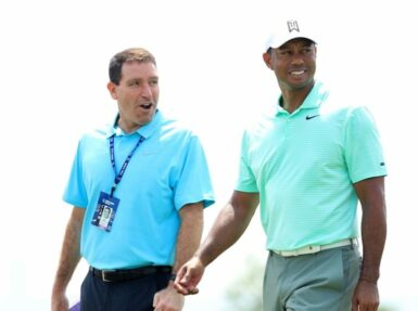 mark Steinberg Tiger Woods Mike Lawrie/Getty Images/AFP