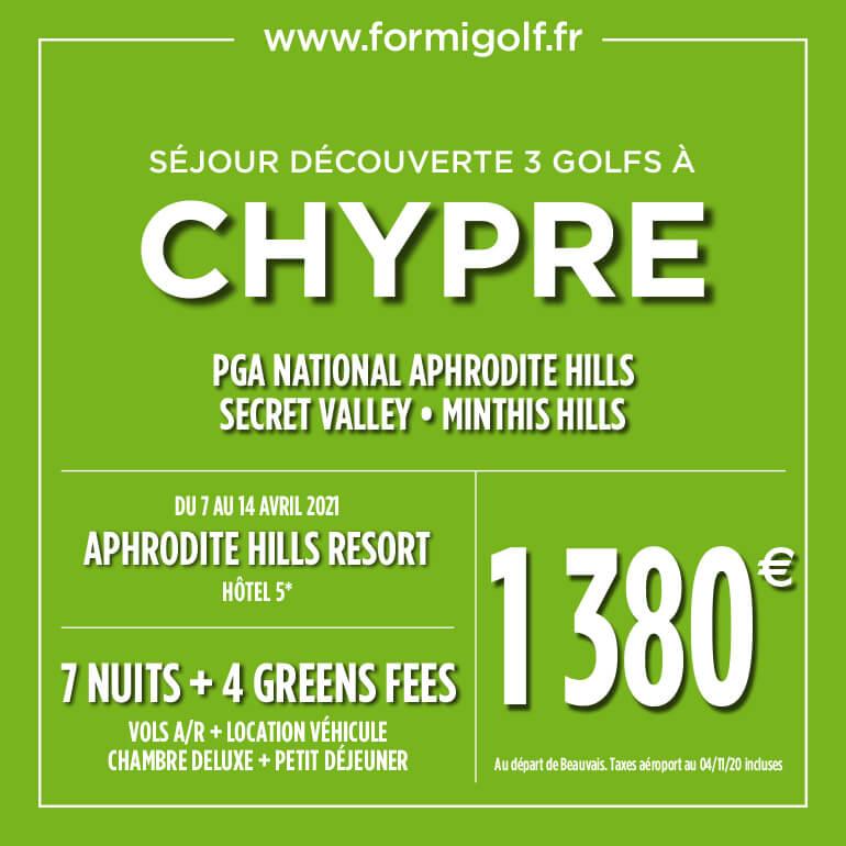 Formigolf Janv 2021 – Chypre – ticket carré