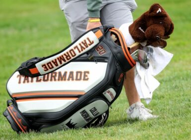 TaylorMade golf bag Jamie Squire/Getty Images/AFP