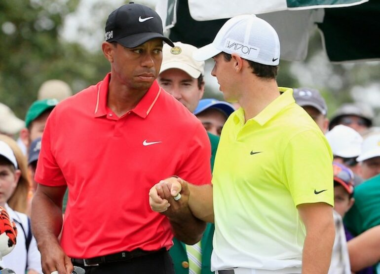 Tiger Woods Rory McIlroy JAMIE SQUIRE / GETTY IMAGES NORTH AMERICA / Getty Images via AFP