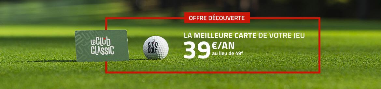 Le Club Golf – Fév 2021 offre 39€ – Bannière large