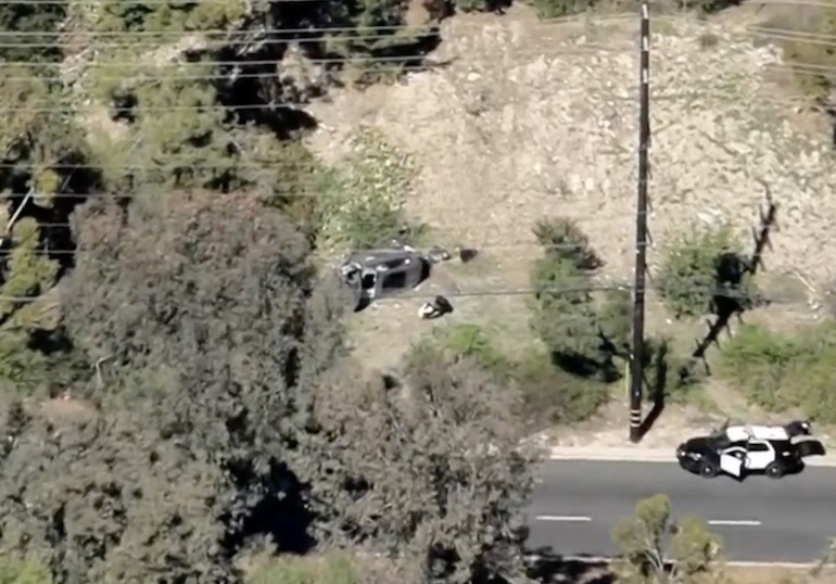 woods car crash accident