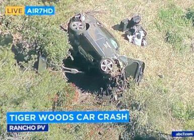 woods crash voiture accident