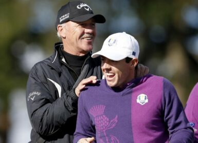 Rory McIlroy et Pete Cowen Photo by ADRIAN DENNIS / AFP