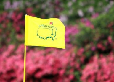 MASTERS AUGUSTA pin flag Andrew Redington/Getty Images/AFP (Photo by Andrew Redington / GETTY IMAGES NORTH AMERICA / Getty Images via AFP