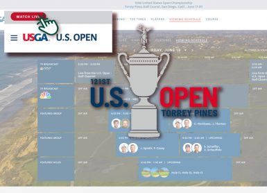watch live us open comment suivre l'us open