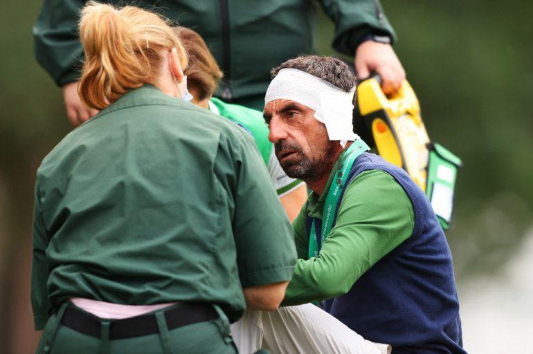 Pietro Consenza Francesco Laporta Photo Richard HEATHCOTE / Getty Images via AFP