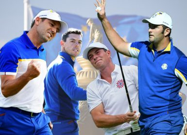 EUROPE RYDER CUP RAHM GARCIA RORY HOVLAND AFP/GETTY