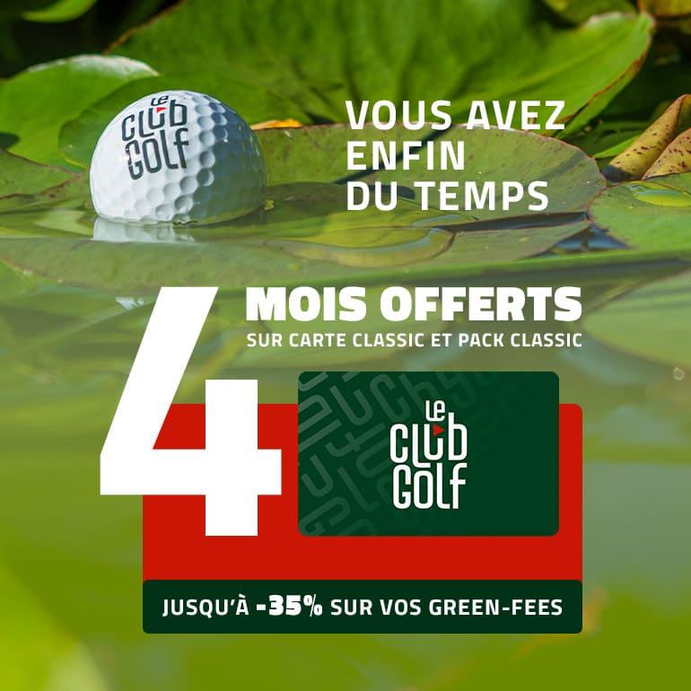 Le Club Golf septembre 2021 4 mois offerts – ticket carré