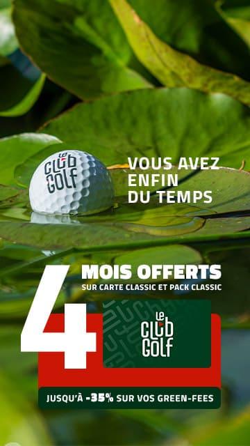 Le Club Golf septembre 2021 4 mois offerts – Bannière verticale