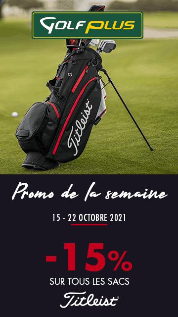 Golf Plus oct 2021 promo sur les sacs – bannière verticale